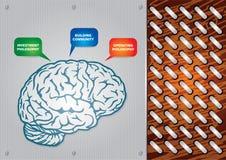 Innovatief idee - technologieachtergrond vector illustratie