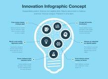 Innovatief infographic concept met gloeilamp Stock Afbeelding