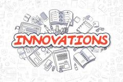 Innovaties - Beeldverhaal Rood Word Bedrijfs concept Royalty-vrije Stock Foto's