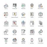Innovatieve het Winkelen en Handelspictogrammen Stock Afbeelding