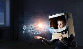 Innovatieve indrukwekkende technologieën Stock Afbeelding