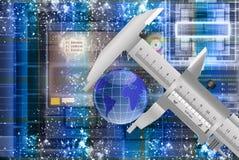 Innovatieve ruimtemetrologie Stock Foto's