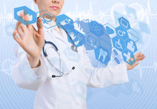 Innovatieve technologieën in geneeskunde Royalty-vrije Stock Afbeelding