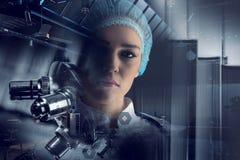 Innovatieve technologieën in wetenschap en geneeskunde Gemengde media Royalty-vrije Stock Afbeeldingen