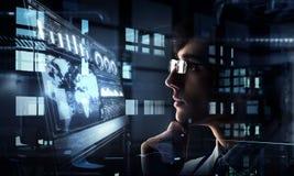 Innovatieve technologieën in wetenschap en geneeskunde Gemengde media Royalty-vrije Stock Foto