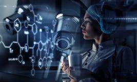 Innovatieve technologieën in wetenschap en geneeskunde Gemengde media Royalty-vrije Stock Fotografie