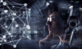 Innovatieve technologieën in wetenschap en geneeskunde Gemengde media Gemengde media Royalty-vrije Stock Foto's