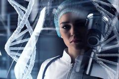 Innovatieve technologieën in wetenschap en geneeskunde Gemengde media Gemengde media Royalty-vrije Stock Foto