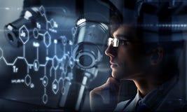 Innovatieve technologieën in wetenschap en geneeskunde Gemengde media Gemengde media Royalty-vrije Stock Afbeelding
