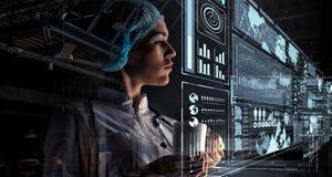 Innovatieve technologieën in wetenschap en geneeskunde Gemengde media Gemengde media Stock Foto