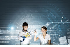 Innovatieve technologieënles Royalty-vrije Stock Afbeelding