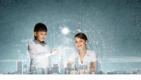 Innovatieve technologieënles Stock Foto's