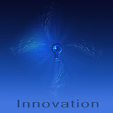 Innovation. Text Innovation with eye in keyhole Stock Photography