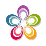 Innovation. Abstract Logo. Colorful graphic design over white Stock Image