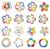 Innovation. Abstract Logo. Colorful graphic design over white stock illustration