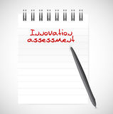 Innovation assessment notepad illustration. Design over a white background royalty free illustration