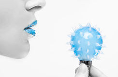 innovation bleue Photographie stock libre de droits
