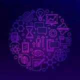 Innovation bright violet illustration Royalty Free Stock Photography