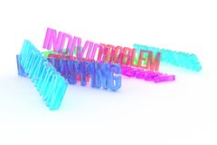 Innovation, business conceptual colorful 3D rendered words. Title, background, alphabet & rendering. Innovation, business conceptual colorful 3D rendered words stock illustration