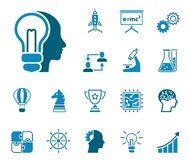 Innovation business icon set royalty free illustration