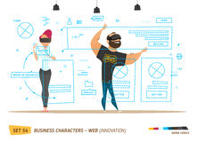 Innovation business style. Creating web site. Royalty Free Illustration