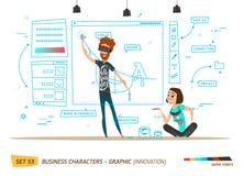 Innovation business style. Design in progress. Innovation business style. Work in progress. Design innovation royalty free illustration
