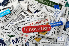 Innovation collage Royalty Free Stock Image