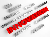 Innovation. Concept abstract background with 3D. Stock Images
