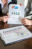 Innovation concept. Business people meeting about innovation royalty free stock image