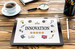Innovation Concept on Digital Tablet Screen stock images