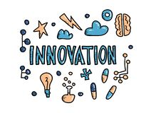 Innovation concept in doodle style. Vector design. vector illustration