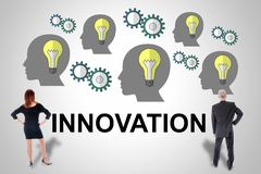 Innovation concept watched by business people stock photography