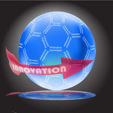 Innovation concept with glossy globe. And reflection stock illustration