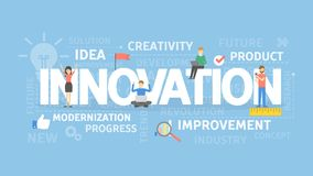 Innovation concept illustration. Idea of creativity, improvement and ideas royalty free illustration