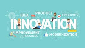Innovation concept illustration. Idea of creativity, improvement and ideas vector illustration