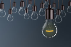 Innovation Concepts Glowing Light Bulb Royalty Free Stock Photos