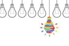 Innovation concepts with light bulbs Royalty Free Stock Image