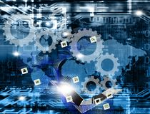 Innovation connection wireless technology. stock image