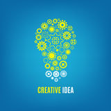 Innovation, creative idea vector concept with light bulb and gears royalty free illustration