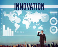 Innovation Creativity Ideas Invention Mission Concept.  Royalty Free Stock Images