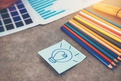 Innovation Creativity inspiration ideas. Concept stock photo