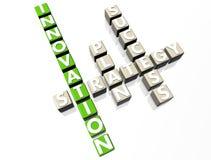 Innovation Crossword Royalty Free Stock Photography