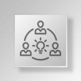 Innovation 3D Knopf-Ikonen-Konzept Stockbilder
