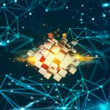 Innovation dans le monde numérique rendu 3d Photographie stock libre de droits
