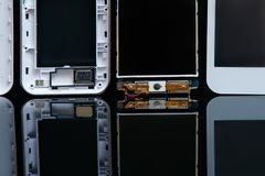 Innovation de la science de smartphone d'ensemble d'atelier Image stock