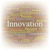Innovation de nuage d'étiquette Image libre de droits