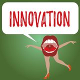 Innovation des textes d'écriture Créatif de nouveau de méthode de signification de concept différent produit d'idée non connu ava illustration de vecteur