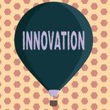 Innovation des textes d'écriture de Word Concept d'affaires pour différent créatif de nouveau de méthode produit d'idée non connu illustration libre de droits