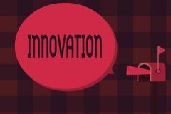 Innovation des textes d'écriture de Word Concept d'affaires pour différent créatif de nouveau de méthode produit d'idée non connu illustration de vecteur