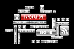 Innovation design web buttons Royalty Free Stock Photography